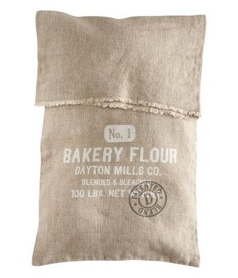 Dayton Mills. Co. Bakery Flour Use hessian and calico to repackage flour
