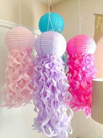 Jellyfish Party Favors for Kids Parties, Mermaid Themed Party Decorations, Ceiling Centerpieces, Jellyfish Light