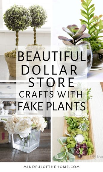 14 Amazing DIY Ideas Using Fake Plants From The Dollar Store