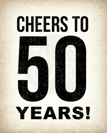 50th Birthday PRINTABLE Sign Pack DIGITAL Posters Cheers To 50 Years