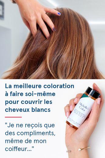"""La solution simple pour colorer les cheveux blancs: """"J'adore... Cela m'a permis d'économiser pas mal d'argent. C'est très facile à utiliser et le résultat est à chaque fois superbe. Tout le monde aime."""""""