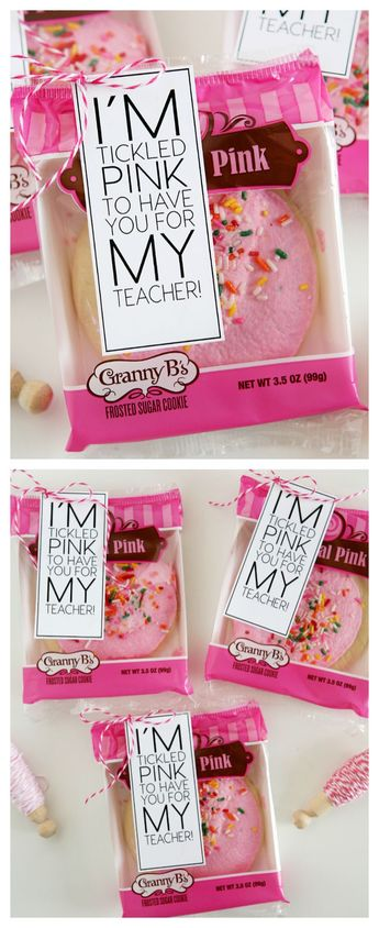 I'm Tickled Pink To Have You For My Teacher   Back to School Teacher Gift
