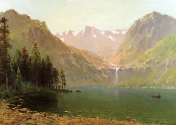 View Of Lake Tahoe Looking Across Emerald Bay 1874 Art Print by Hill Thomas
