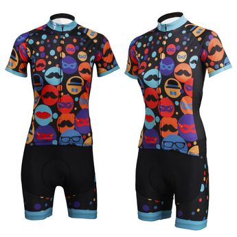 Ilpaladino Gentle Mustache Hat Women s Cycling Long Short-sleeve Jersey kit  Sportswear Exercise 3061b164d