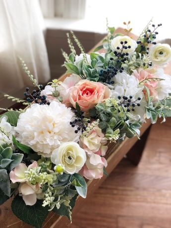 Large Floral Arrangement | Spring Floral Arrangement | Sweetheart Table Floral Centerpiece - Wedding Flowers - Wedding Floral Centerpiece