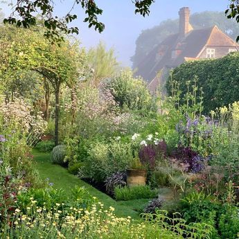 """Danna Callahan on Instagram: """" ✨Town Place Garden A repost from : The lovely herb garden set within a private garden in Sussex, that is open for charity in June &…"""""""