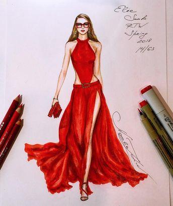 Ilustrações de Moda de Natalia Zorin Liu