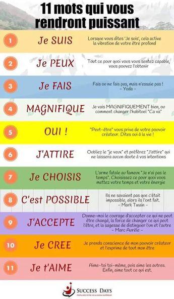 11 mots qui vous rendront puissant