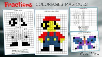 Fractions : Coloriages magiques