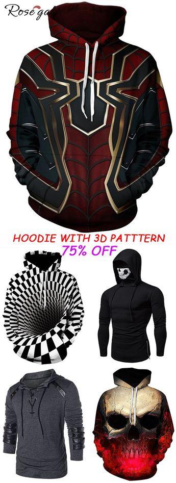 Hoodies with 3D pattern printed Style street chic #Rosegal #hoodies