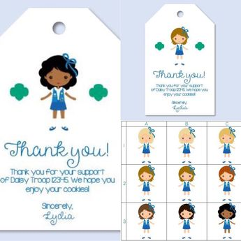 graphic regarding Girl Scout Cookie Thank You Note Printable known as Products and solutions very similar in the direction of Customized Obtain Woman Scout Cookie Thank Yo