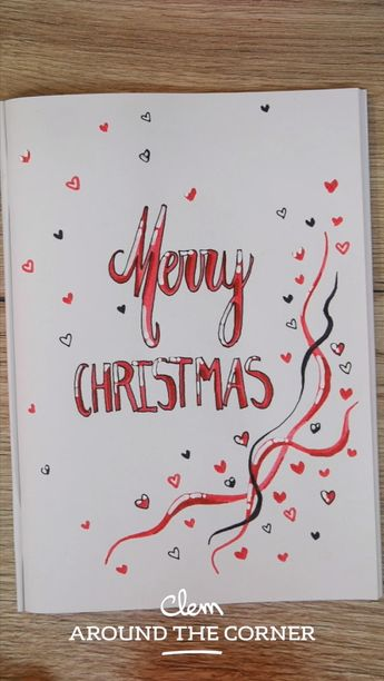 Police d'écriture Noël calligraphie et dessin bujo
