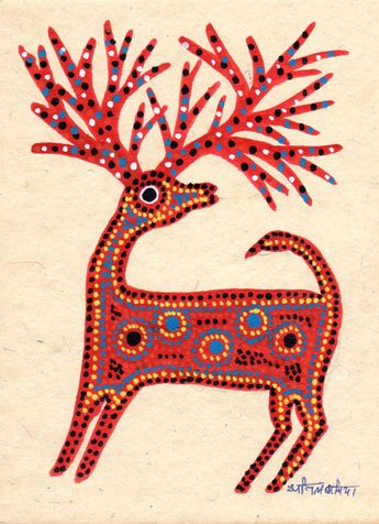 Indigo Arts Gallery | Art from Asia | Bhil Indian Folk Painting