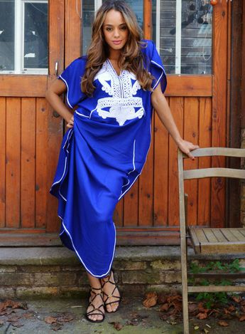 dde2879193 Spring Blue White Marrakech Resort Caftan Kaftan -beach cover ups, maxi, s,