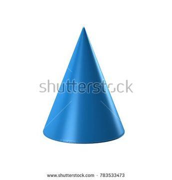 Cone Geometric shape. 3D Render Illustration