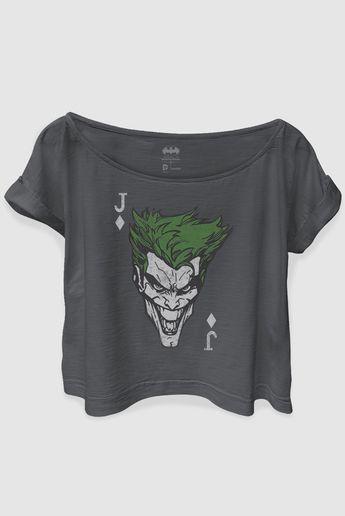 T-shirt Premium Feminina The Joker Card d21e2a79913
