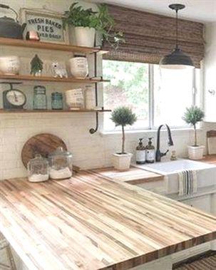 Popular Farmhouse Kitchen Design Ideas 22 #KitchenRemodeling