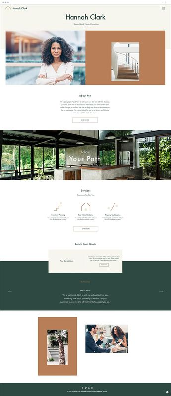 Catch your client's eye with this modern yet welcoming design. The clean layout perfectly showcases your professional background, services and projects, and is easily customized to make it your own. Click edit to begin today.