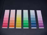 A perfect periodic organization activity awaits—at the hardware store. Make your case for your arrangement of colored paint chip samples.