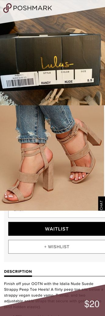 c010f002d8 Lulus nude strappy heel size 5.5 Worn twice! Great for formals and going out !