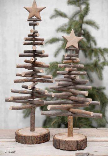 twig Christmas trees