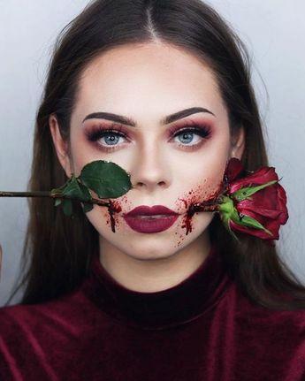 Halloween Makeup EN LITT ANNERLEDES VALENTINES SMINKE Karolina Maria