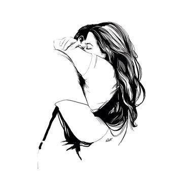 #illustration #dessin #drawing #sketch #art #paint #painting #blackandwhite #couple #love #lover #calins #etreinte #amoureux by @amandine_comte Facebook.com/lartcommeunique