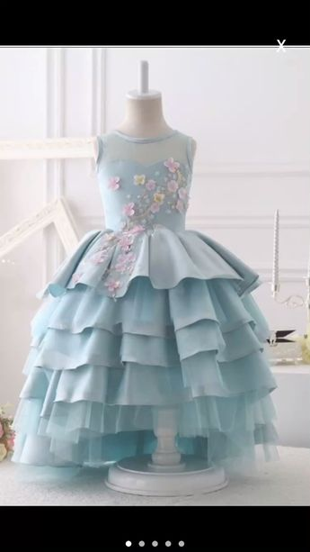 Little Girl Birthday Gown, Baby Girl Birthday Dress, Princess Gown, Free Shipping Children Dress