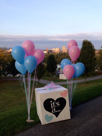 Our gender reveal box :)                                                                                                                                                                                 More