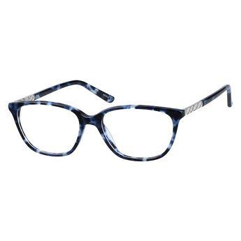 7ed7d4a5558e Zenni Womens Classic Cat-Eye Prescription Eyeglasses Blue Tortoiseshell  Plastic 4413116