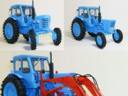 MTZ-50/52 Tractor Free Vehicle Paper Model Download  This vehicle paper model is a MTZ-50/52 Tractor, created by Modeller Design, and the scale is in 1:25. You may get this paper model...