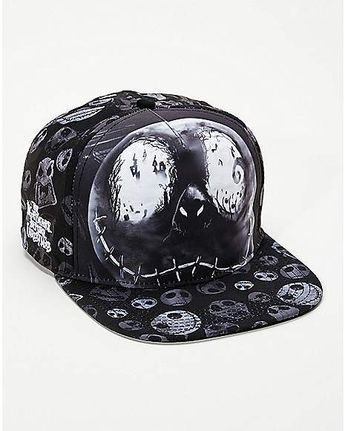 Faces Jack Skellington Snapback Hat - The Nightmare Before Christmas -  Spencer s a2bc7435e2d9