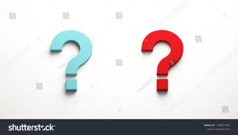 Two Question Marks. Blue and Red. 3D Render illustration  #question #mark #symbol #sign #concept #business #illustration #icon #background #problem #white #solution #idea #answer  #ask #isolated #help #design #information #questionmark #faq #choice #support