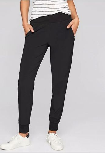 56090a12919 Details about Athleta Soho Jogger - Black NWOT 4 Petite