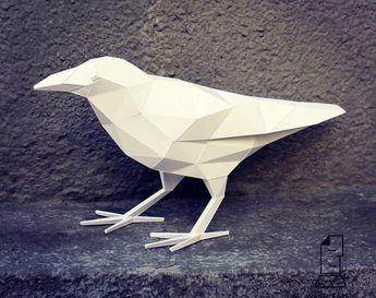 porcelain origami crane ornament