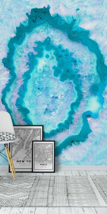 Agate Summer Ocean Dream 1 Wall Mural / Wallpaper Abstract