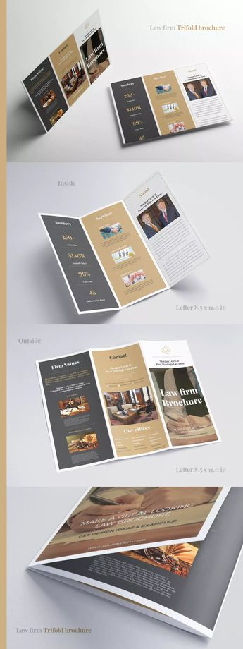 law firm trifold brochure template indesign indd print ready cmyk 300 dpi