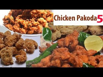 Chicken Fry And Roast Recipes 62 - Chicken Pakoda Five Types - Chicken 65 Pakodi Style - Chicken Fry - YouTube