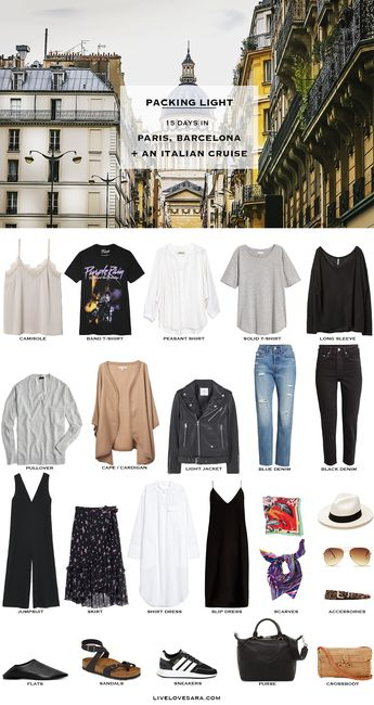 What to Pack for Paris, Barcelona, and an Italian Cruise