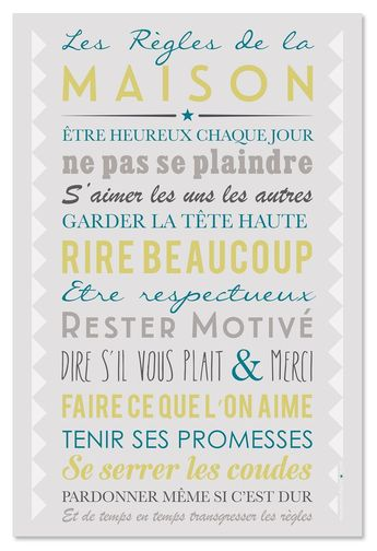 Card, poster to frame and decorative table The House Rules  #decorative #frame #house #poster #rules #table