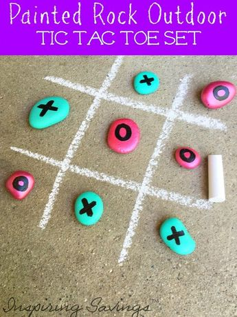 Fun Birthday Party Game: Painted Outdoor Tic Tac Toe Set