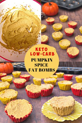 Easy Keto Low-Carb Pumpkin Spice Fat Bombs is a quick dessert treat recipe with video perfect for ketosis diets and lifestyles! These bombs taste like pie and are gluten-free and loaded with high healthy fats and only have 1 gram of net carbs each! #Keto #ketorecipes #fallrecipes