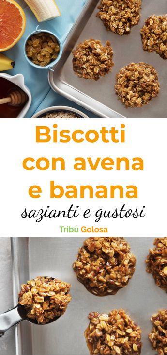 Biscotti croccanti con avena e banana, sazianti e gustosi