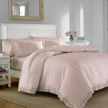 Laura Ashley Annabella 3-Piece Pink Full/Queen Duvet Cover Set