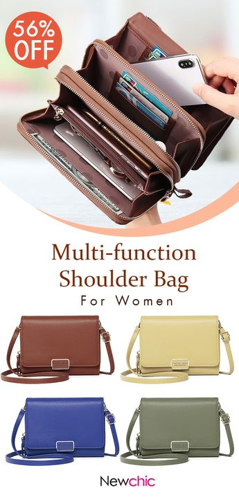 [US$ 17.77] Women Faux Leather Plain Multi-function Shoulder Bags Phone Bags #crossbodybags #purse #walletsbags #minibags SKUB21367