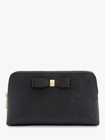 Ted Baker Elois Leather Makeup Bag, Black
