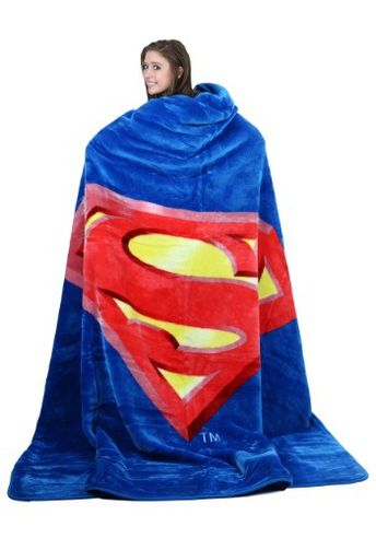 This Superman Shield Queen Blanket is perfect for any Superman fan!