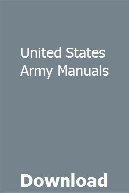 United States Army Manuals