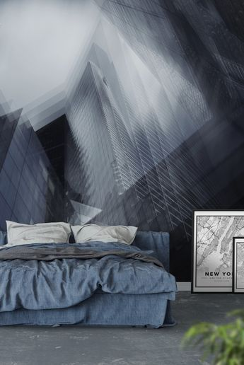 Parallel Wall Mural / Wallpaper Abstract