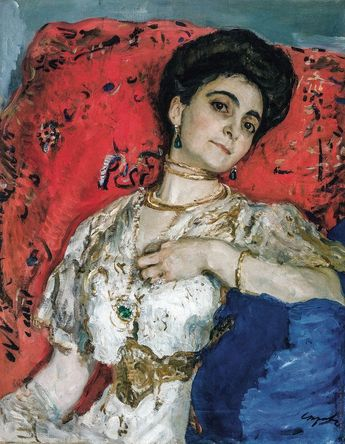 "Description of the painting by Valentin Serov ""Portrait of Akimova"""